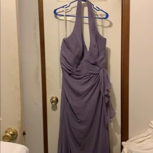 New with Tags Long Backless Purple Dress